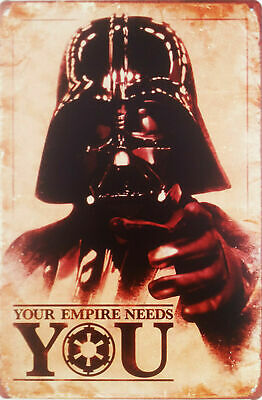 """Your empire needs you!"" Metal plaque 