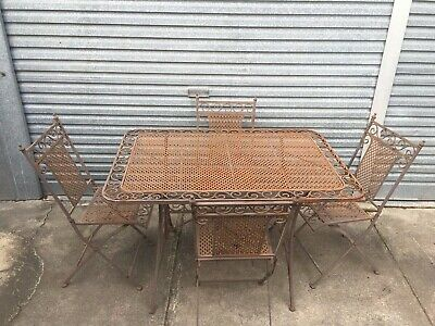 Outdoor Garden setting metal table & 4 chairs