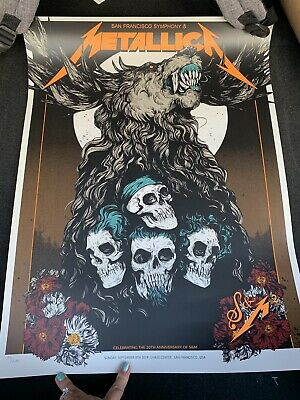 Metallica San Francisco Poster #84/670 Chase Center Poster Night 2 S&M2