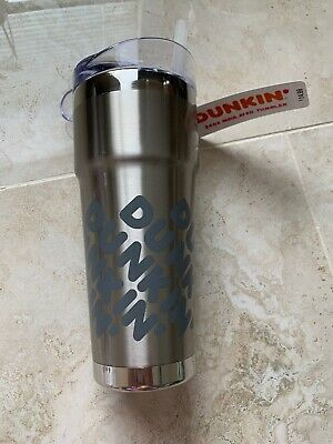 Dunkin Donuts 24 oz Tumbler Cup NEW Vacuum Insulated Travel Mug