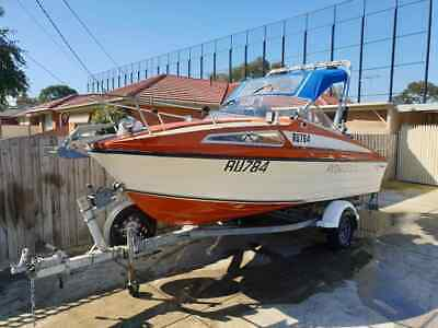 Savage Astra 18ft Fishing Cruising Boat Mercury Oil Injected 115hp Outboard