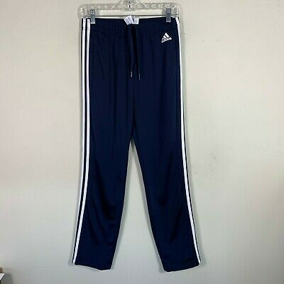 "Adidas Women's Size S Inseam 31"" Track Pants Navy White Striped Athletic"