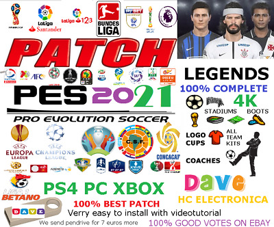 OPTION FILE eFOOTBALL PES 2020 PS4 PC PS3 XBOX360 DAVE