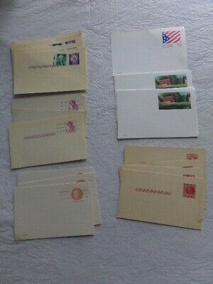 Lot of Blank U.S.Post Office 2,4,19,20 Cent Stamped Postal Cards + 3 Domestic Rt