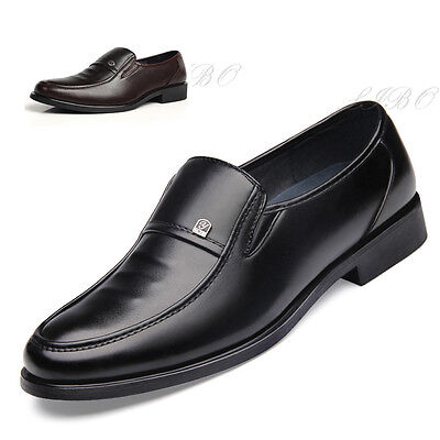 Mens Business Dress Formal Slip On Leather Shoes Driving Oxford Moccasin Loafers