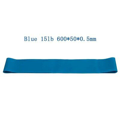 15lb Blue Resistance Elastic Band Exercise Gym Latex Rubber Fitness Stretch Belt