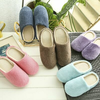Men Women Soft Touch Warm Indoor Slippers Mute House Home Anti-slip Shoes USA