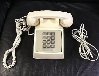 Western Electric Bell System Series 2500 Push Button Desk Set Telephone