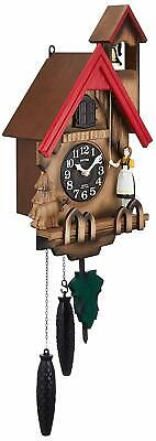 Japan Rhythm Clock Wall Clock Analog Cuckoo Tyrolean R 4Mj732Rh06 New