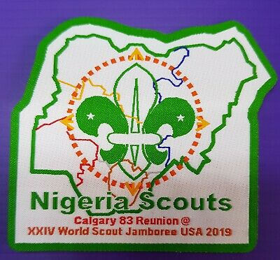 RARE  24th World Scout Jamboree 2019 Contingent  Official PATCH , NIGERIA