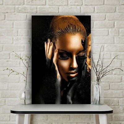Black Gold Nude African Art Oil Painting on CanvasPosters Prints Wall Picture