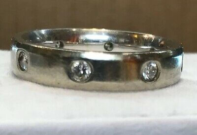 FINE ESTATE VINTAGE 14k White Gold Diamond .50 Ct. Eternity Band