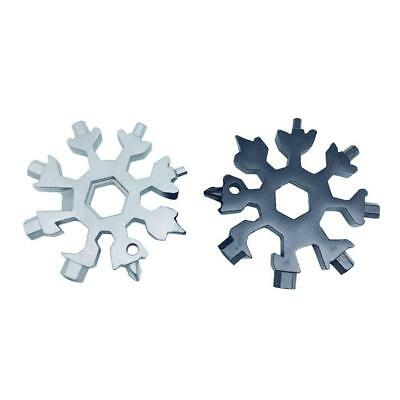 18-in-1 Multi-tool Combination Compact Portable Outdoor Snowflake Tool Card US