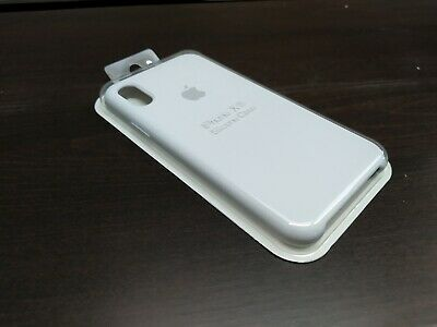 For apple iPhone X 10 OEM GENUINE ORIGINAL OFFICIAL Apple Silicone Case WHITE