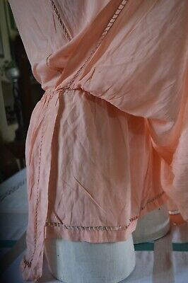 French original 1930s/40s peach silk teddy cami suit- size 10-12 UK fit.