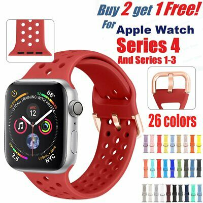 Silicone Strap For Apple Watch iWatch Sports Series 1/2/3/4 38/42/40/44mm Band