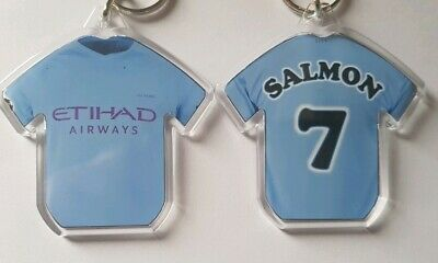Manchester City FC  style 19/20 personalised keyring with all badges