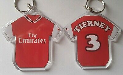 Arsenal FC style 19/20 personalised keyring with badges
