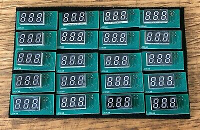 20x 3 DIGIT LED DISPLAY - I2C INTERFACE 9MM HEIGHT AS USED IN GOTEK ETC (LEDC68)