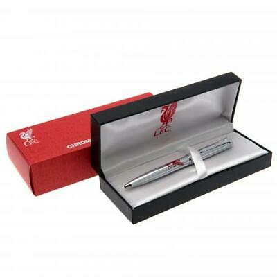 Liverpool Fc Executive Chrome Plated Ball Point Pen Gift Box New Xmas Gift
