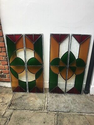 Period Stained Glass Leaded Windows X7 Vintage Old Interior Design