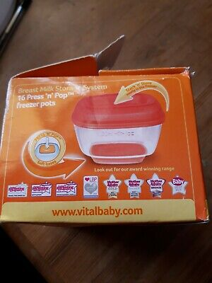Vital baby Breast milk storage pots x 16