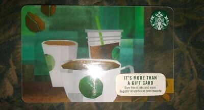 Starbucks Coffee * Used Collectible Gift Card NO VALUE * Beverages Green Clear