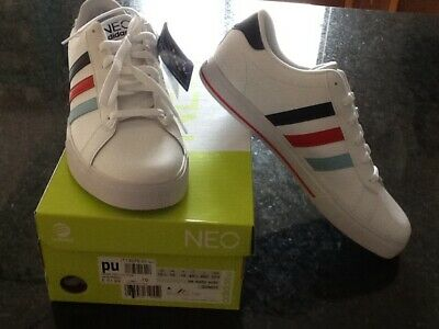 Adidas NEO LABEL Mens Trainers White Leather UK 10 - EU 44.5  BNWT & boxed