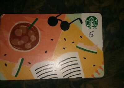 Starbucks * Used Collectible Paper Gift Card No Value * Water🍉 (Damaged/Bent)
