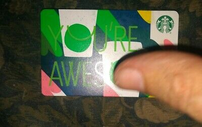 Starbucks * Used Collectible Paper Gift Card No Value * Awesome (Damaged/Bent)
