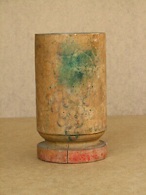 Old Antique Primitive Wooden Wood Pounder Mortar Bowl Cup Spices Country 50s