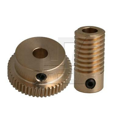 1:50 0.5-mode 50Teeth Industrial Brass Worm Gear & Shaft Reducer 5mm