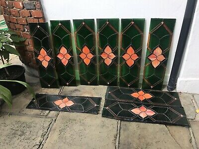 Period Stained Glass Leaded Windows 9 Vintage Old Interior Design Art Deco Style