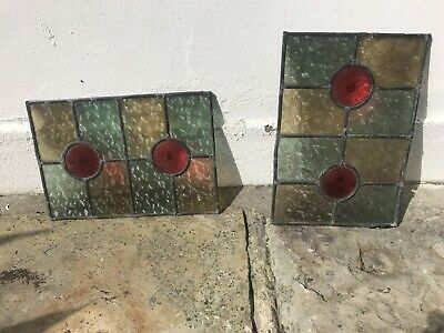 Period Stained Glass Leaded Windows 2 Antique Old Interior Design Art