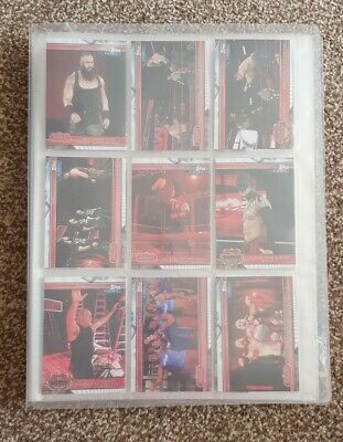 WWE Champions Topps Card Complete Base and Rares Set with Binder