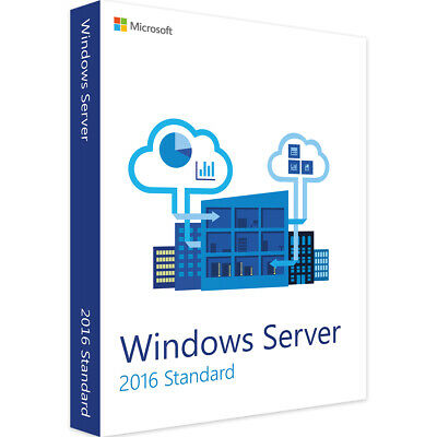 Microsoft Windows Server 2016 Standard 16 oder 24 Core Basislizenz