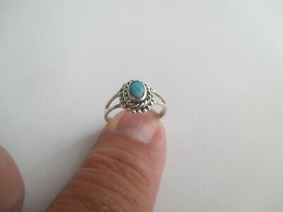 Turquoise Ring (oval shape)..STERLING SILVER..Nice Design...New