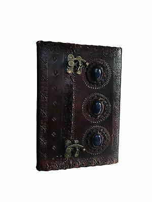 Leather Journal Book Medieval Stone Embossed Handmade Book of Shadows Notebook