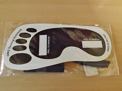 5 Pairs,,, Omg Spray Tanning Sticky Feet Stick On Foot Protectors For Fake Tan