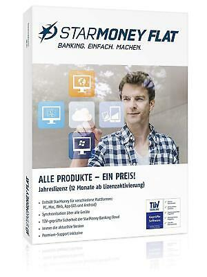 StarMoney Flat Jahreslizenz inkl Premiumsupport PC MAC Android Download ESD