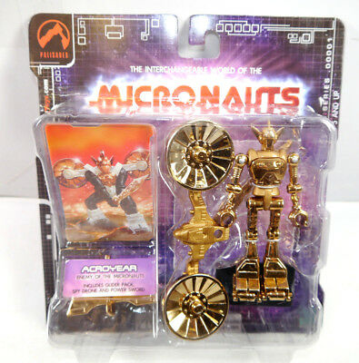 Micronauts Retro Series - Acroyear Gold Action Figure Palisades New #01 (K61)