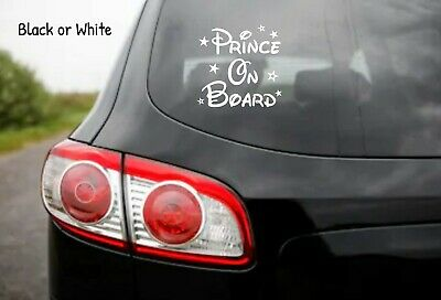 Prince on Board Disney Car Window Glass Sticker Vinyl Decal Child Van Sign