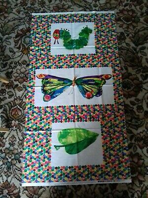 The very hungry caterpillar fabric panel