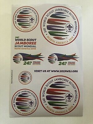 "2019 World Scout Jamboree Decal Sticker Sheet 4"" x 8"" New"