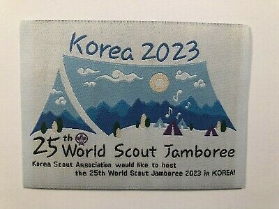 2023 25th World Scout Jamboree Promotion Patch Korea 2023 Excellent New