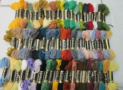 Job lot Anchor tapestry wool 59 skeins mixed colours