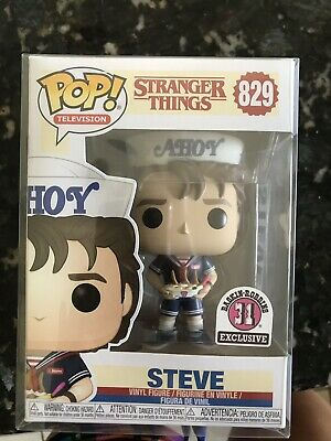 Funko Pop Stranger Things Steve Ahoy! Baskin Robbins 31 Exclusive Robins #829