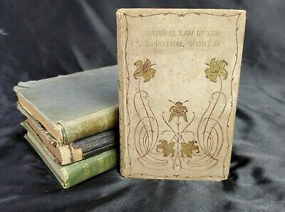 Natural Law in the Spiritual World Drummond Antique Book Science Religion Prose
