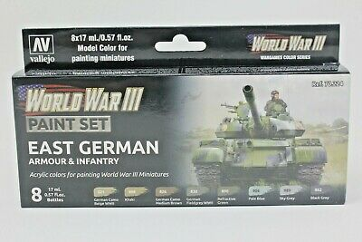 Vallejo WWIII East German Armour & Infantry Paint Set