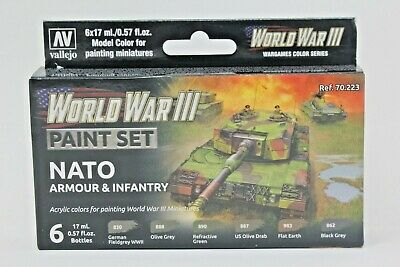 Vallejo WWIII Nato Armour & Infantry Paint Set
